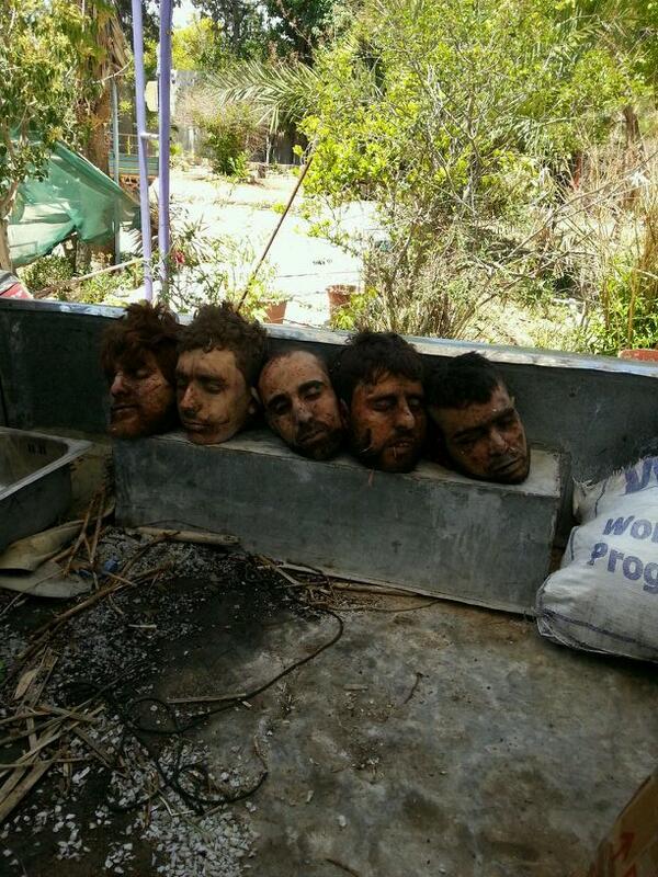 Ανατολική Γκούτα Δαμασκός αποκεφαλισμένοι Σύριοι στρατιώτες