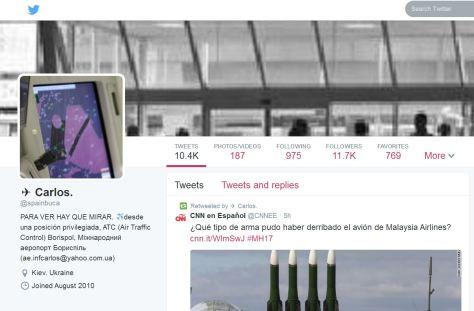 ο λογαριασμός που καταργήθηκε σχολιάζεται από το tweeter του ισπανικού cnn