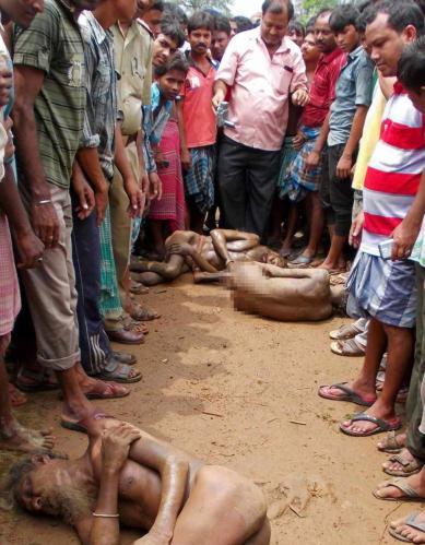 Ο άγριος ξυλοδαρμός των μάγων βιαστών από τους συγχωριανούς του κοριτσιού