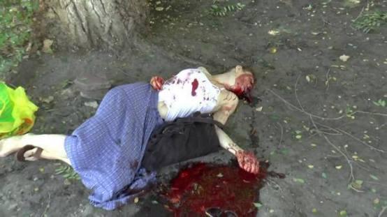 με ψίχουλα δημητριακών καρπών δεν σώζονται από τη γενοκτονία οι ρωσόφωνοι ...Λουγκάνσκ γενοκτονία