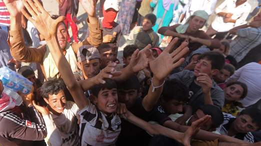 IRAQ-UNREST-YAZIDIS-RELIEF