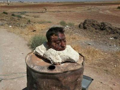 σημερινή ανάρτηση ονομάζεται Ηani Mohammed Hamish αποκεφαλίστηκε από το ΙΣΛ. Κρ.στην akhatarin της Συρίας