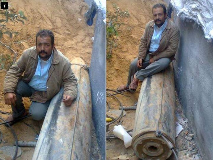Ο Φαντέλ Νασίρ δίπλα στη βόμβα