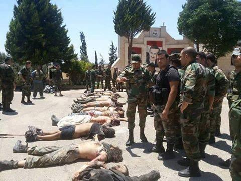 τρομοκράτες της Jaysh Al Fateh που σκοτώθηκαν από συραικό στρατό στο  Al-Ghab
