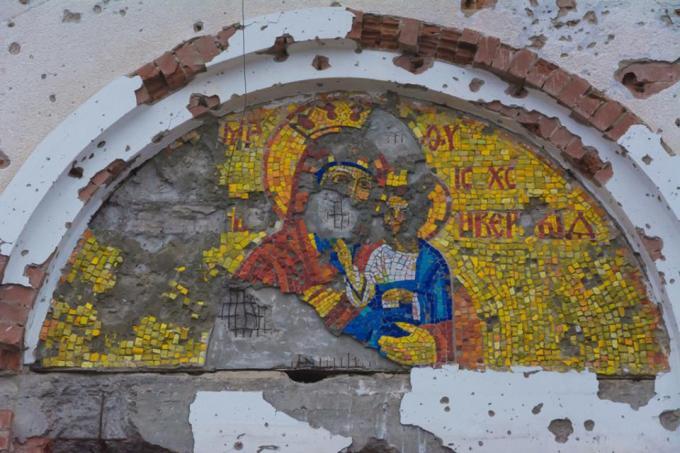 Αποτέλεσμα εικόνας για Moνή παναγίας Ντόνετσκ