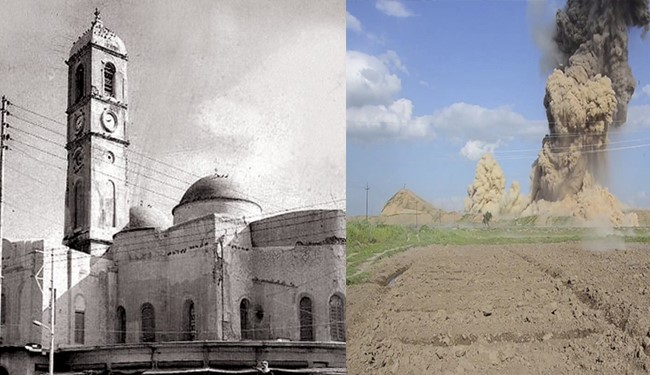 ISIS Detonates Historical Clock Church from 1872 in Iraq's Mosul