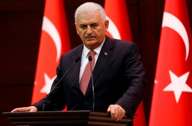Turkey's Prime Minister Binali Yildirim addresses the media in Ankara, Turkey, June 27, 2016. REUTERS/Umit Bektas