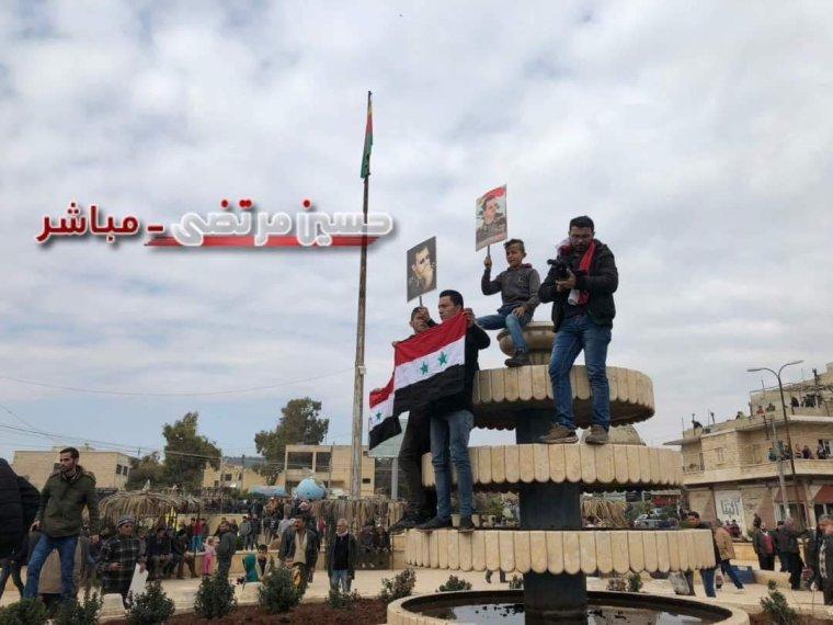 LIVE Θριαμβευτική είσοδο των συριακών δυνάμεων στην πόλη του Αφρίν, στην κεντρική πλατεία υπό επευφημίες. Υψώθηκαν συριακές σημαίες....BINTEO φωτο