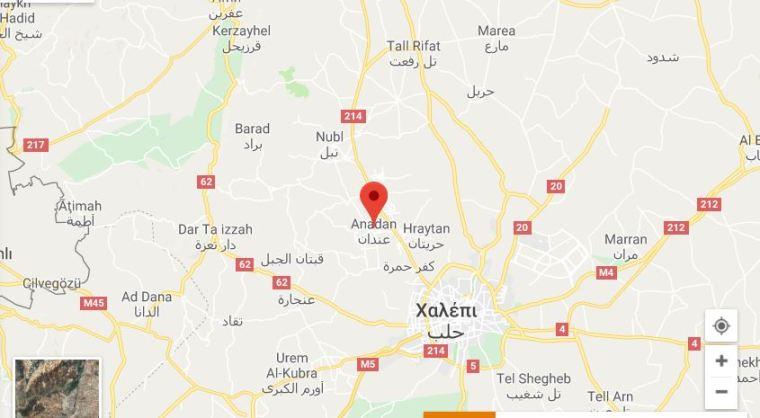 Οι τούρκοι κρύβουν ότι σήμερα τους χτύπησε ο συριακός στρατός. Οι νεκροί τους σήμερα δεν ήταν στο Αφρίν αλλά στην Anadan στο Β Χαλεπίου όπου δέχθηκαν αντίποινα με πολλούς πυραύλους.ΦΩΤΟ ΝΕΚΡΟΙ ΤΟΥΡΚΟΙ ΣΤΡΑΤΙΩΤΕΣ ΣΤΗ ΣΥΡΙΑ ΤΟΥ ΣΤΡΑΤΟΥ ΚΑΤΟΧΗΣ