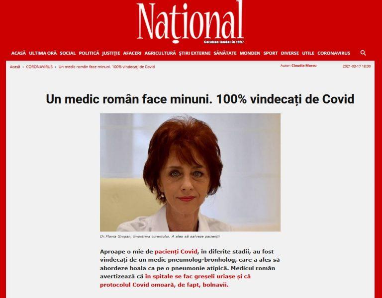 Για τη Ρουμάνα Πνευμονολόγο Flavia Groșan, το πρωτόκολλο του Covid που εφαρμόστηκε στα νοσοκομεία σκοτώνει τους ασθενείς! (βίντεο)