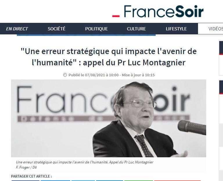 """Ο Καθηγητής Luc Montagnier (Νόμπελ Ιατρικής) ΣΟΚάρει με τις αποκαλύψεις του για το εμβόλιο του κορονοϊού.  """"Ένα στρατηγικό λάθος που επηρεάζει το μέλλον της ανθρωπότητας. Ηγέτες επί τη βάση πειραματικών δεδομένων επέτρεψαν μαζικό εμβολιασμό."""""""