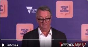 """Υπουργός Υγείας Μελβούρνης: """"απ' όσους νοσηλεύθηκαν χθες το 78% πλήρως εμβολιασμένοι, το 17% μερικώς."""""""