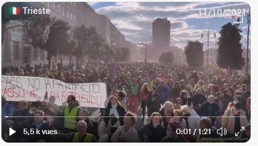 Γενική απεργία και διαδηλώσεις σε όλη την Ιταλία κατά της πολιτικής Draghi και του pass sanitaire/υγειονομικού πάσου!